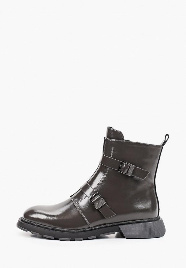 женские высокие ботинки helena berger, серые