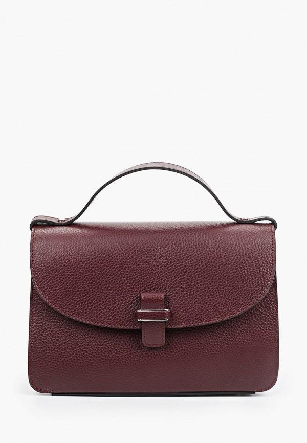 женская сумка с ручками basconi, бордовая