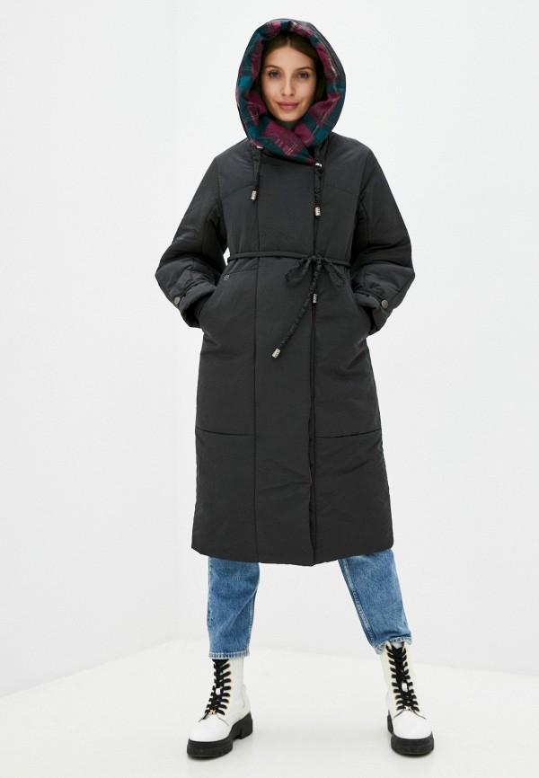 женская утепленные куртка dimma, черная
