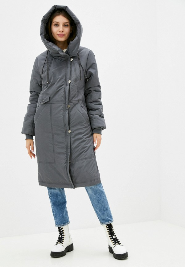 женская утепленные куртка dimma, серая