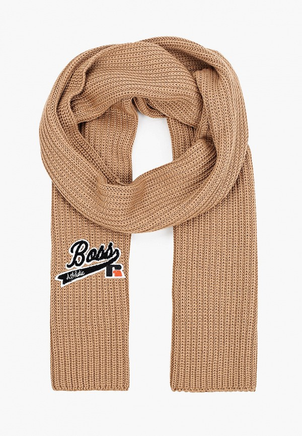 женский шарф boss, коричневый