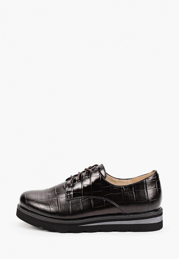 женские ботинки-оксфорды mascotte, коричневые