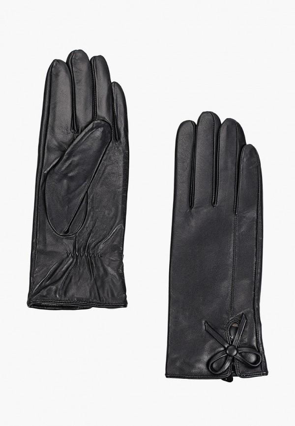 женские кожаные перчатки mascotte, черные