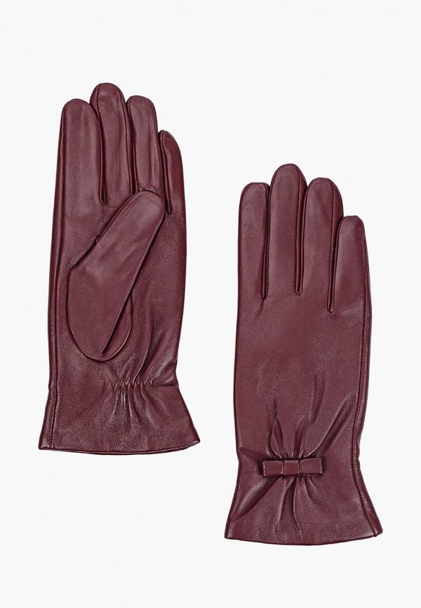 женские кожаные перчатки mascotte, бордовые