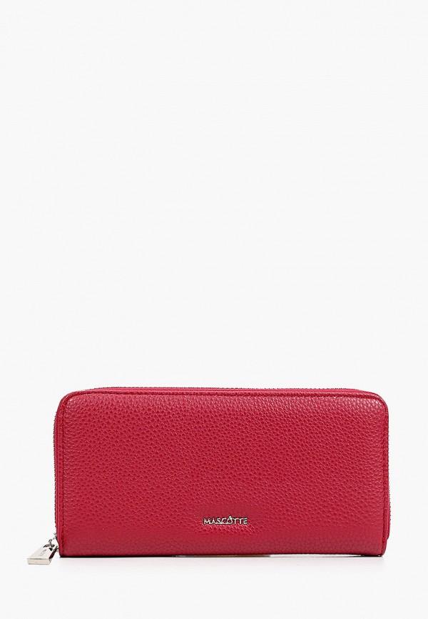 женский кошелёк mascotte, бордовый