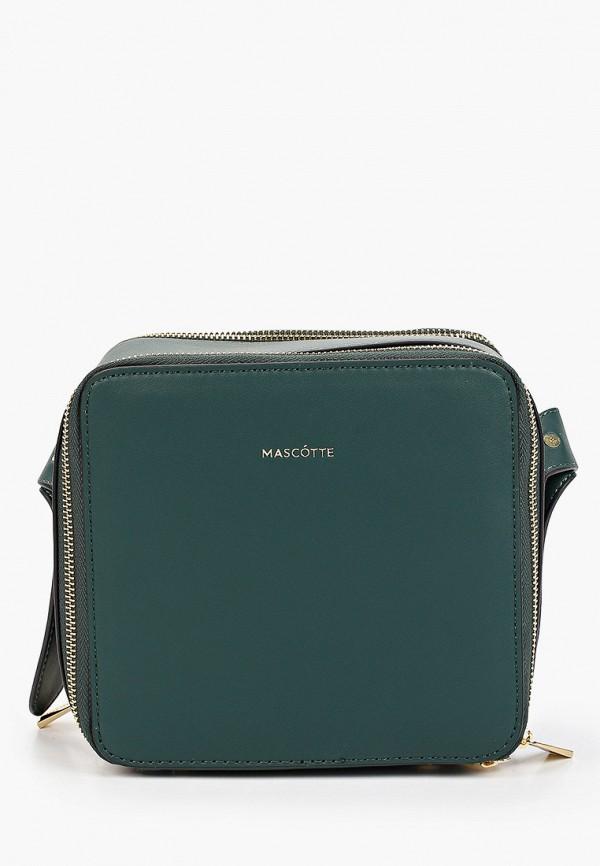 женская сумка через плечо mascotte, зеленая