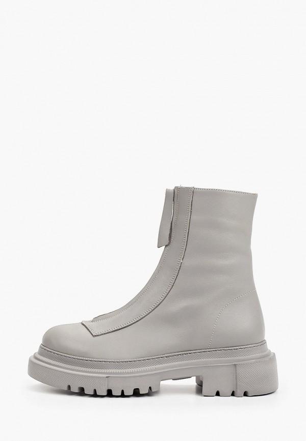 женские высокие ботинки emanuele gelmetti, серые