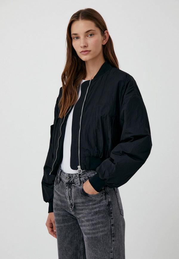 Куртка утепленная Finn Flare черный  MP002XW09GQV