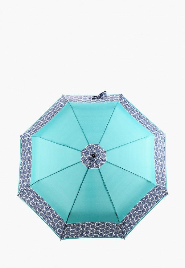 женский складные зонт doppler, бирюзовый