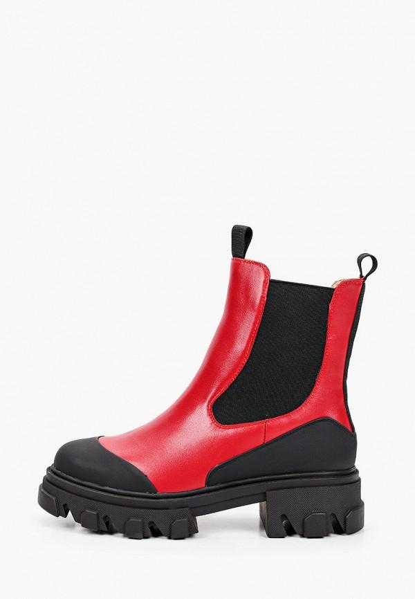 женские ботинки-челси mascotte, красные