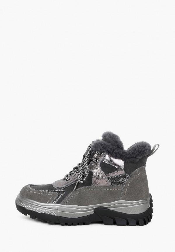 женские высокие ботинки pierre cardin, серые