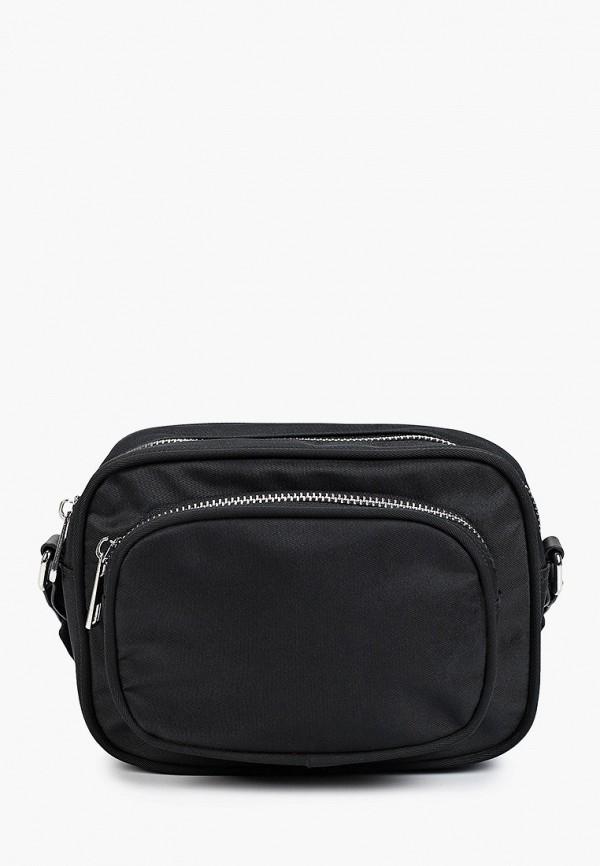 женская сумка через плечо sela, черная