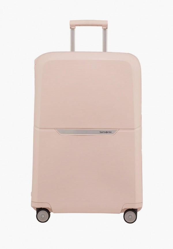 женский чемодан samsonite, розовый