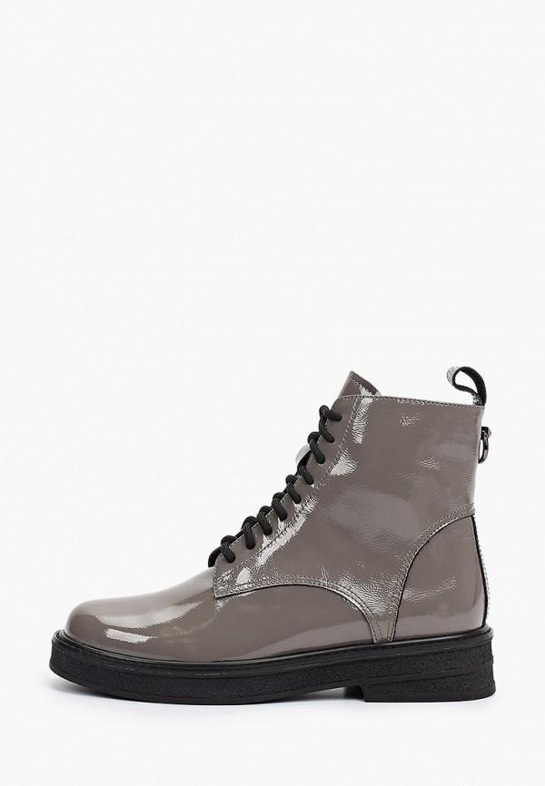женские высокие ботинки valley, серые