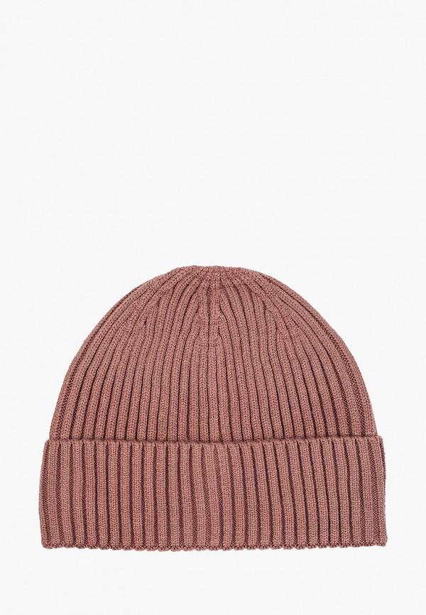 женская шапка befree, коричневая