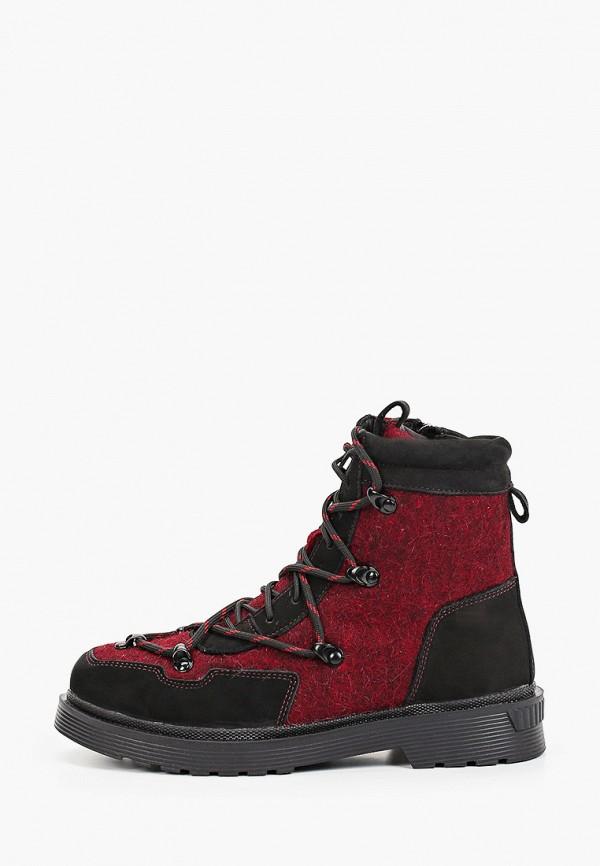 женские высокие ботинки makfly, бордовые