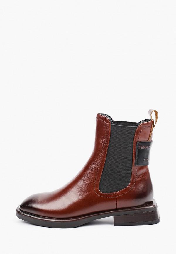 женские ботинки-челси el'rosso, коричневые