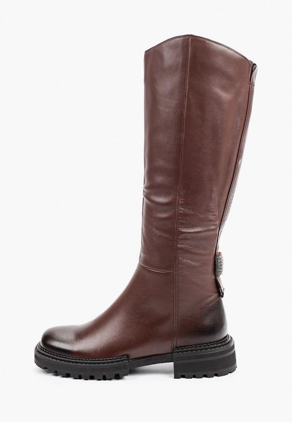 женские сапоги el'rosso, коричневые
