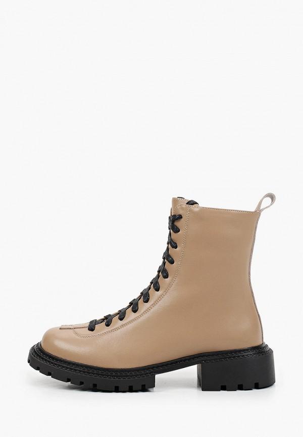 женские высокие ботинки makfine, бежевые