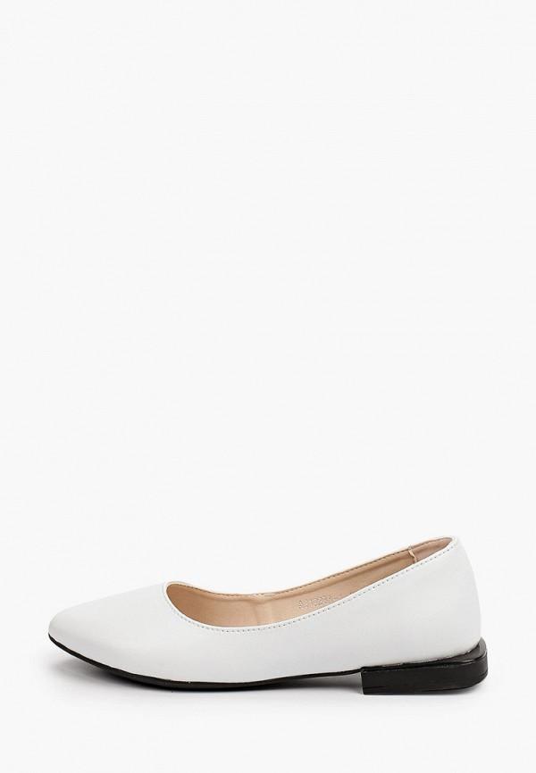 женские туфли с закрытым носом el'rosso, белые