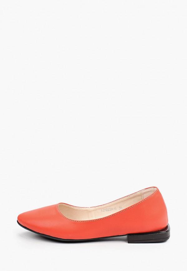 женские туфли с закрытым носом el'rosso, красные