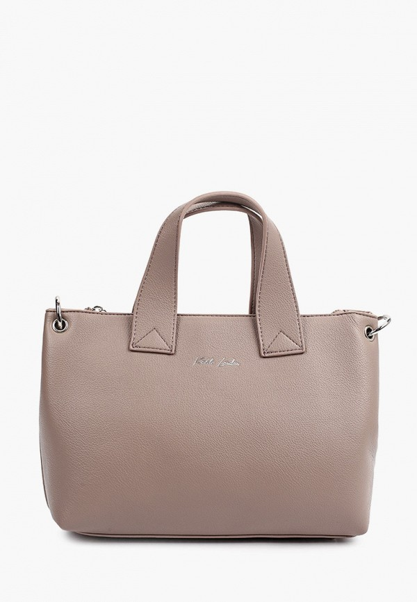 женская сумка с ручками keddo, бежевая