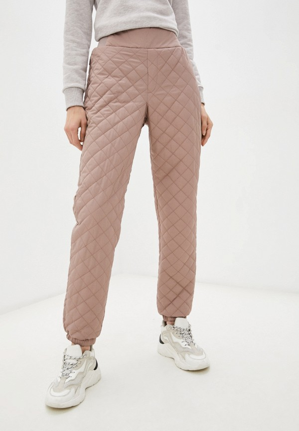 женские утепленные брюки baon, бежевые