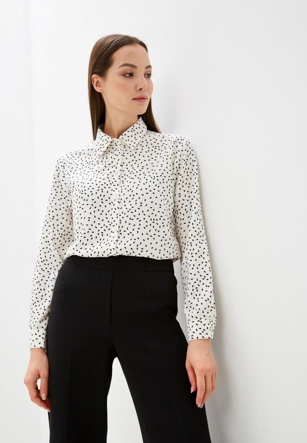женская блузка с длинным рукавом delia, белая