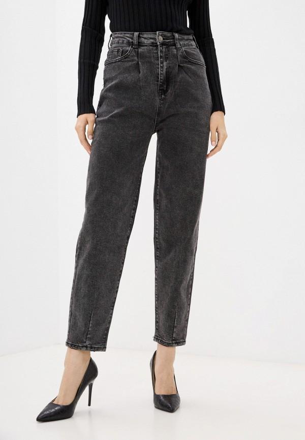 женские джинсы-мом vittoria vicci, серые