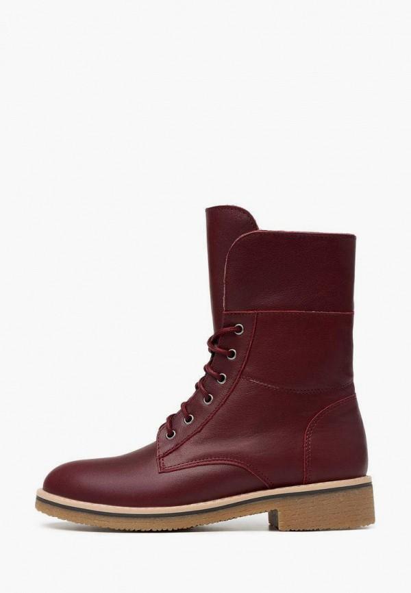 женские высокие ботинки alessio nesca, бордовые