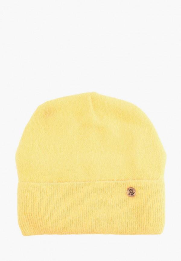 женская шапка demari, желтая