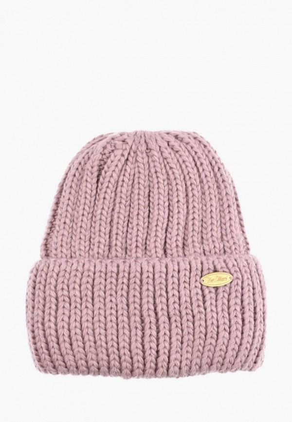 женская шапка demari, розовая