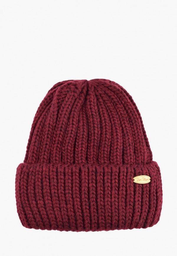 женская шапка demari, бордовая