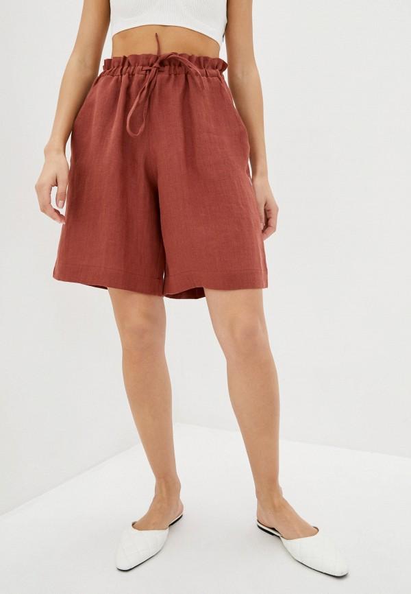 женские повседневные шорты silence, коричневые