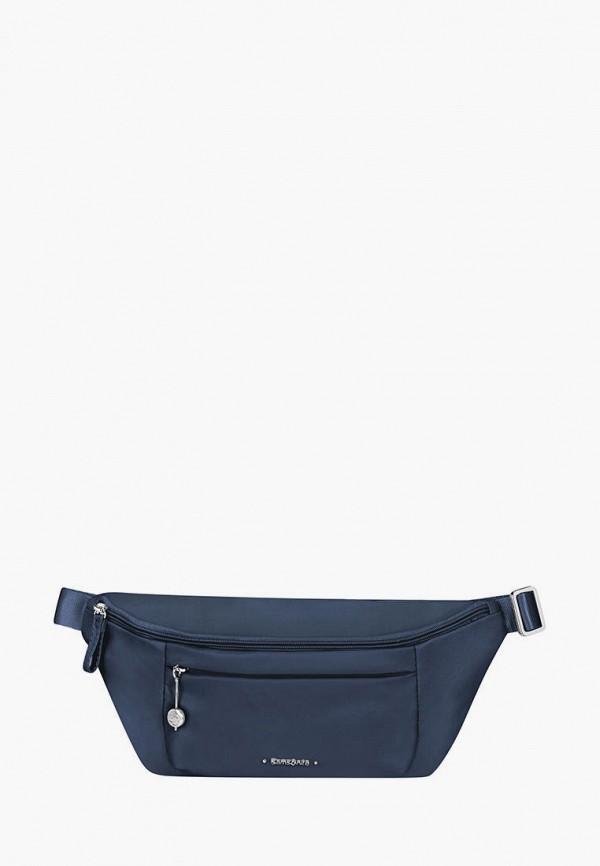 женская поясные сумка samsonite, синяя