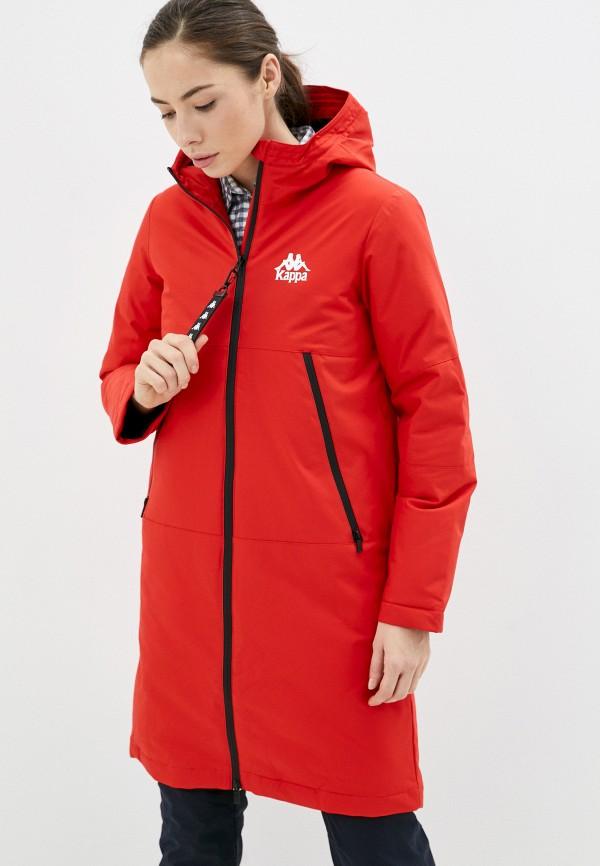женская спортивные куртка kappa, красная