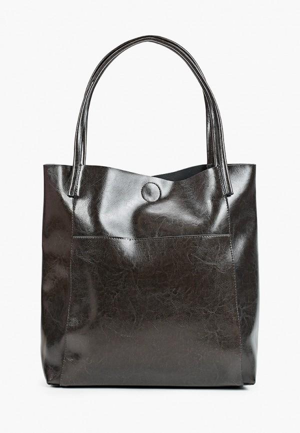 женская сумка-шоперы снежная королева, серая