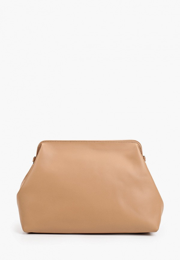 женская сумка через плечо снежная королева, коричневая