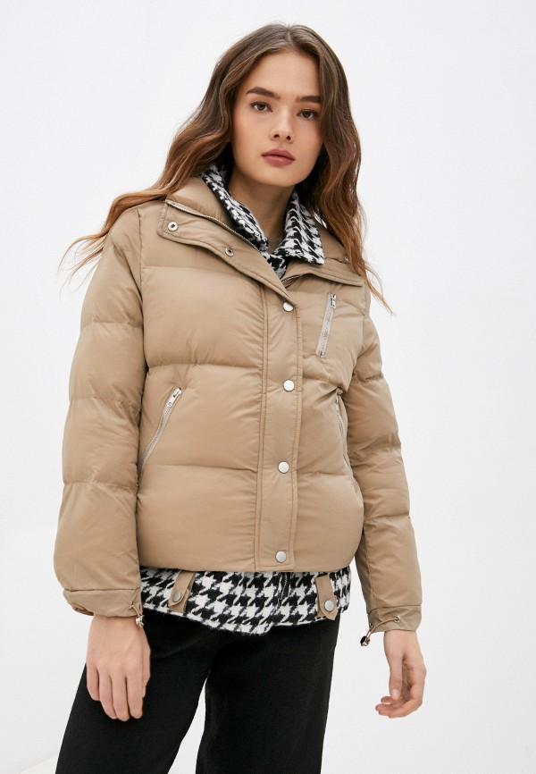 женская утепленные куртка indiano natural, бежевая