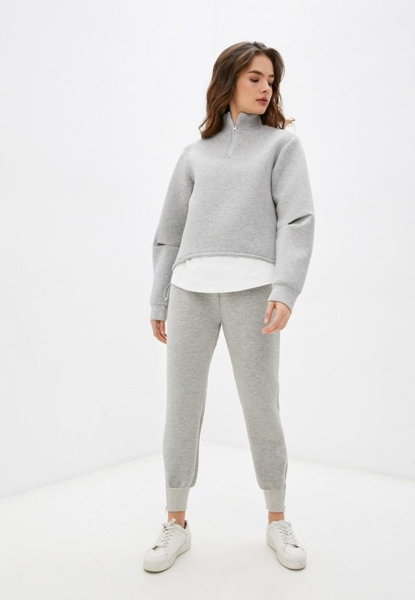 женский спортивный костюм fresh cotton, серый