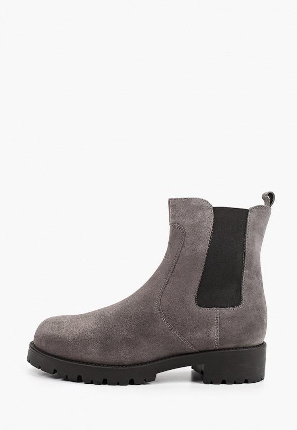 женские высокие ботинки argo, серые