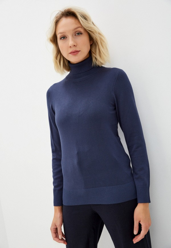 женская водолазка vis-a-vis, синяя