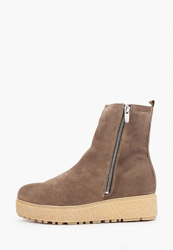 женские высокие ботинки wonders, коричневые
