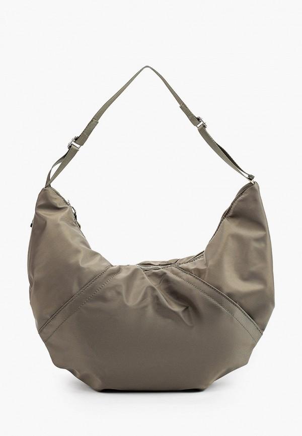 женская сумка с ручками sela, хаки