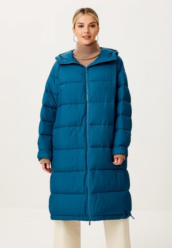 женская утепленные куртка sela, бирюзовая