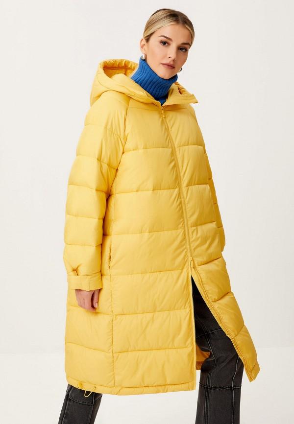 женская утепленные куртка sela, желтая