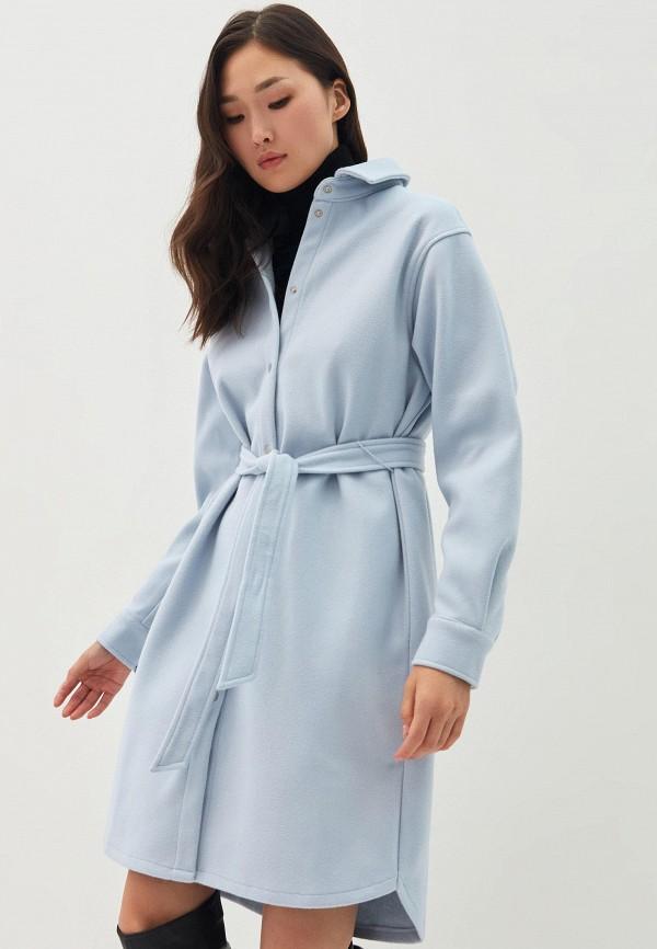 женское платье-рубашки zarina, голубое