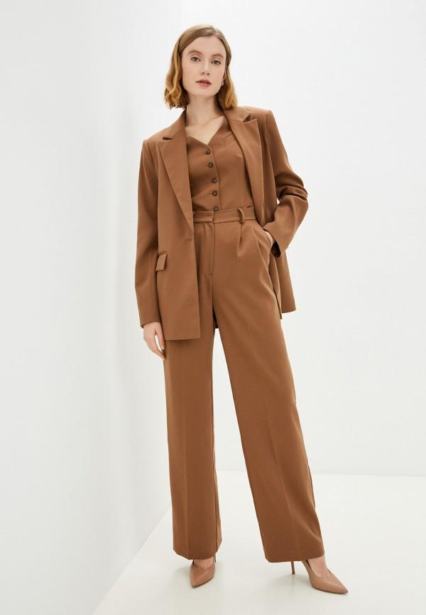 женский классические костюм charisma, коричневый