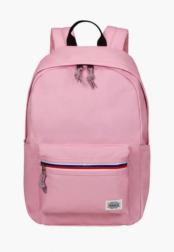 женский рюкзак american tourister, розовый