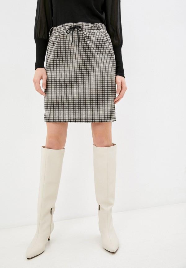 женская прямые юбка baon, бежевая